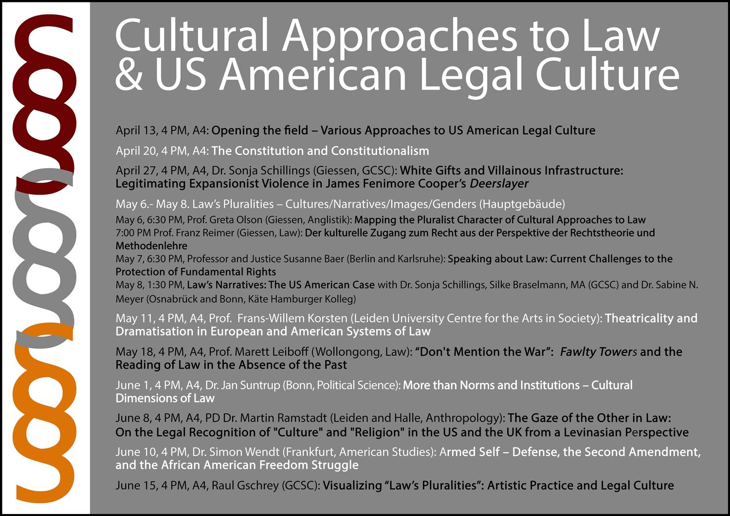 Cultural Approaches to Law and US American Legal Culture