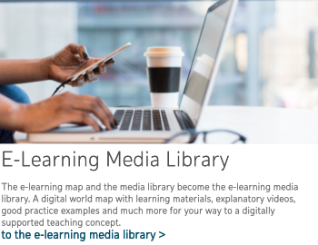 to the e-learning media library