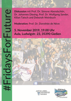 Podiumsdiskussion: #Fridays for Future (05.11.2019)