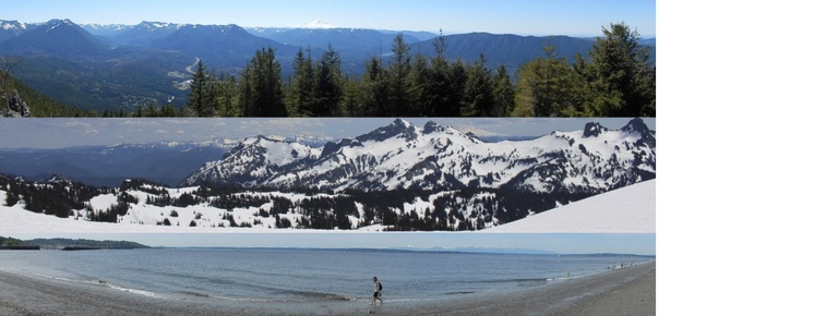 Pictures of Mountains and Golden Beach