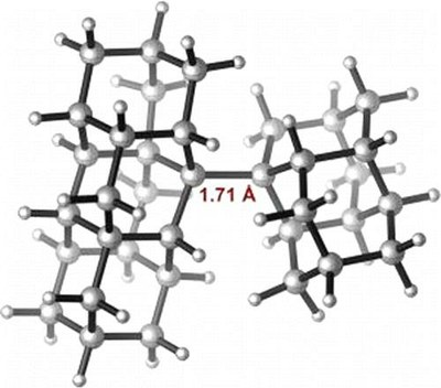 Stable Alkanes Containing Very Long Carbon-Carbon Bonds