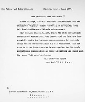 Brief Adolf Hitlers an einen Giessener Professor