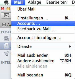 Apple Mail Account einstellen 7