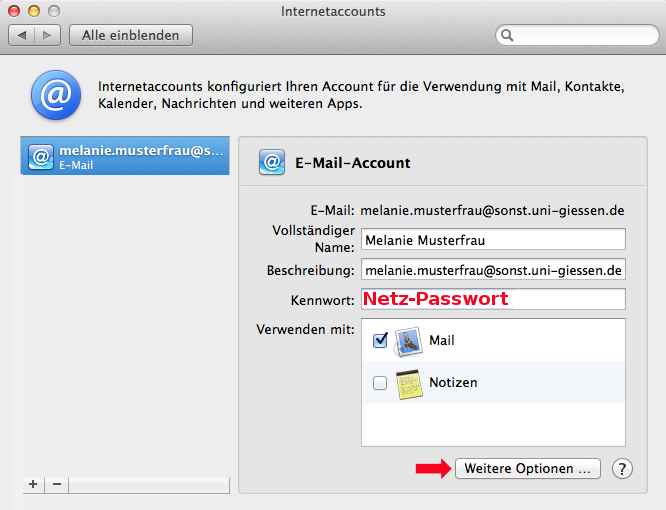 Apple Mail Account einstellen 8