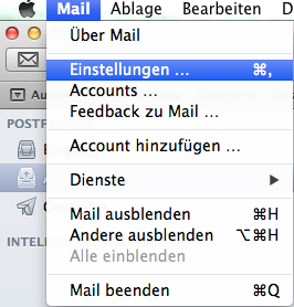 Apple Mail Account einstellen 11
