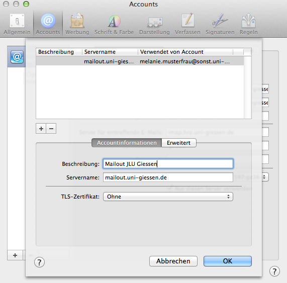 Apple Mail Account einstellen 14