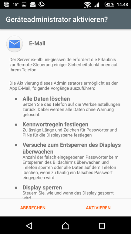 Android Exchange Anleitungs Bild 10