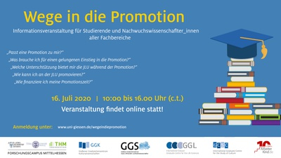 Wege in die Promotion Banner 2020