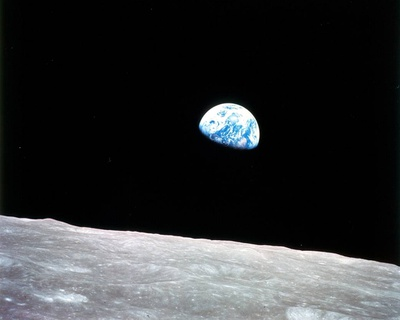 """Earthrise"". Foto: NASA"