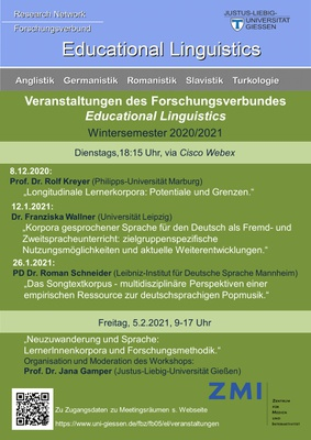 Vortragsreihe der Sektion Educational Linguistics""