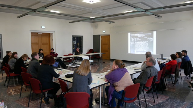Workshop: Allied Attempts to Cover Nazi Crimes on Film: What Questions can the Footage Answer? Foto: Ingo Zechner.