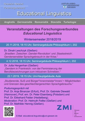 Programm Educational Linguistics 2018/19