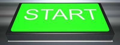 Zierbild: Startknopf als Symbol für Beginn