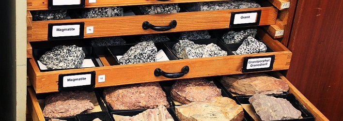 Rock Collection of the Department of Geography