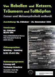 Plakat Ausstellung Meinungsfreiheit