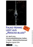 Plakat Falko Hennig liest
