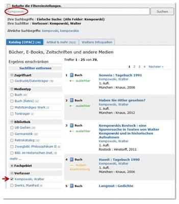 Primärliteratur oder Sekundärliteratur — Bibliothekssystem