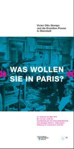 """Einladung zur Ausstellungseröffnung """"WAS WOLLEN SIE IN PARIS?"""""""